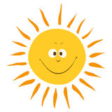 Cartoon sun smile Royalty Free Stock Images