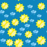 Cartoon sun and snow seamless texture 637 Stock Image