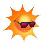 Cartoon sun in sunglasses. EPS10 vector Royalty Free Stock Images