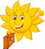 Cartoon sun travelle Stock Photography