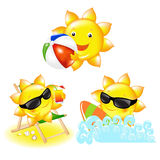 Cartoon Sun. Vector Royalty Free Stock Photography