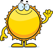 Cartoon Sun Waving Stock Photo