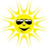 Cartoon Sun Wearing Dark Glasses royalty free stock photo