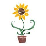 Cartoon sunflower Stock Photo