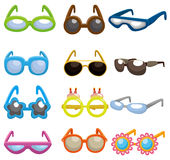 Cartoon Sunglasses set icon Stock Images