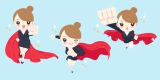 Cartoon super businesswoman Stock Photo