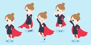 Cartoon super businesswoman Stock Image