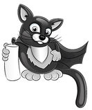 Cartoon super cat. Royalty Free Stock Photography