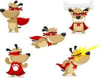 Cartoon Super dog set Stock Image