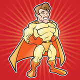 Cartoon Super Hero. Exaggerated cartoon based on standard super hero Stock Images