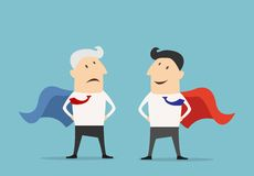 Cartoon Super hero businessman characters Royalty Free Stock Images