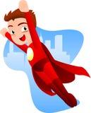 Cartoon Superboy flying Stock Photography