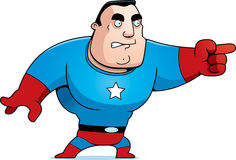 Cartoon Superhero Angry Royalty Free Stock Photos