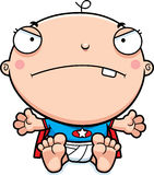 Cartoon Superhero Baby Mad Stock Photos