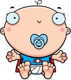 Cartoon Superhero Baby Pacifier Royalty Free Stock Photography