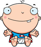 Cartoon Superhero Baby Smiling Stock Images