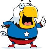 Cartoon Superhero Bald Eagle Stock Images