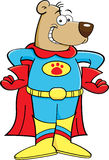 Cartoon superhero bear Stock Photos