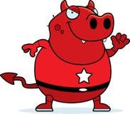 Cartoon Superhero Devil Royalty Free Stock Images