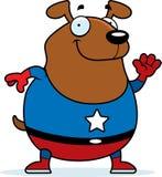 Cartoon Superhero Dog. A cartoon illustration of a dog in a superhero costume Stock Images