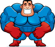 Cartoon Superhero Flexing Royalty Free Stock Photos