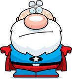 Cartoon Superhero Grandpa Bored Royalty Free Stock Photos
