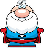 Cartoon Superhero Grandpa Royalty Free Stock Photography