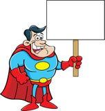 Cartoon Superhero. Cartoon illustration of a superhero waving Stock Photos