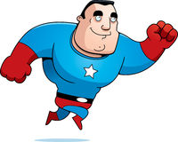 Cartoon Superhero Jumping Stock Photos
