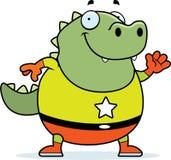 Cartoon Superhero Lizard Stock Image