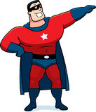 Cartoon Superhero Man Stock Photography