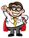 Cartoon Superhero office nerd Royalty Free Stock Image