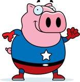 Cartoon Superhero Pig Royalty Free Stock Images