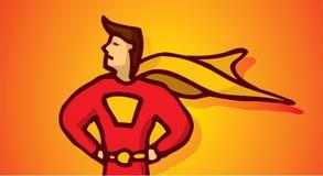 Cartoon superhero profile Stock Photos