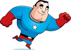 Cartoon Superhero Running Royalty Free Stock Image