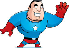 Cartoon Superhero Waving Royalty Free Stock Photo