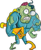Cartoon superhero zombie Stock Images