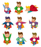 Cartoon superman icons Stock Photos