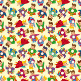 Cartoon superman seamless pattern Stock Image