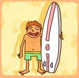 Cartoon surf illustration, vector icon. Stock Photo