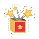 Cartoon surprise box april fools Royalty Free Stock Photo