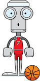 Cartoon Surprised Basketball Player Robot Stock Photo