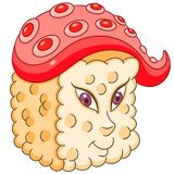Cartoon sushi roll royalty free stock image