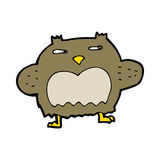 Cartoon suspicious owl Stock Images