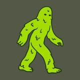 Cartoon swamp monster Royalty Free Stock Photography
