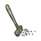Cartoon sweeping brush Stock Photos