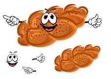 Cartoon sweet bun with poppy seeds Stock Photos