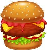 Cartoon sweet burger Royalty Free Stock Image