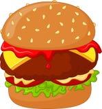 Cartoon sweet burger Stock Images