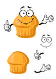 Cartoon sweet muffin with thumb up Stock Image